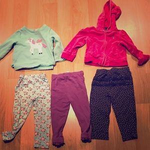 Other - 3 pants + 2 sweatshirts (size 18 months)